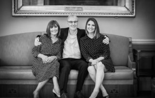 Picture taken at the 25th anniversary of Design Podge of Phil, his wife Babs and his daughter Clare
